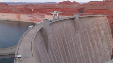 Red rocks in the Glen Canyon Dam in Arizona Footage