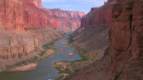 A beautiful shot of the Grand Canyon at magic hour Stock Video Footage