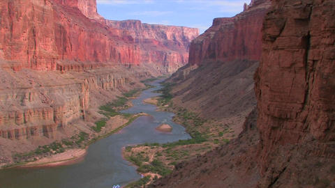 A beautiful shot of the Grand Canyon at magic hour Footage