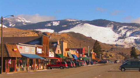 The main street of a small town in America's North Stock Video Footage