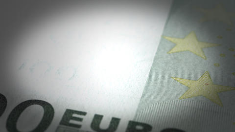 Euro Close-up Stock Video Footage
