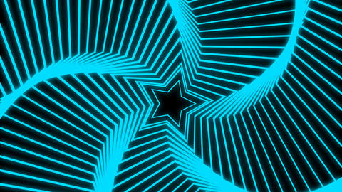 Star Radiation blue Stock Video Footage