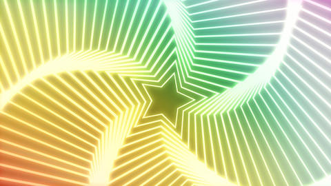 Star Radiation colorful background 2 Stock Video Footage