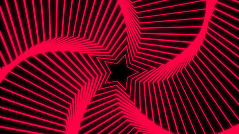 Star Radiation red Animation