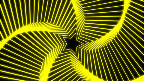 Star Radiation yellow Stock Video Footage