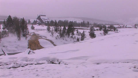 Yellowstone Lodge is in the distance of this dead  Footage