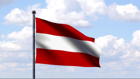 Animated Flag of Austria / Österreich Stock Video Footage