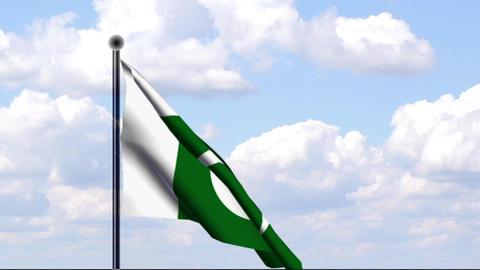 Animated Flag of Pakistan Stock Video Footage