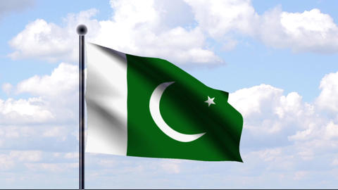 Animated Flag of Pakistan Animation