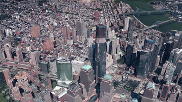 aerial view of New york,spectacular city landscape Animation