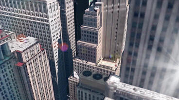 aerial view of New york building &... Stock Video Footage