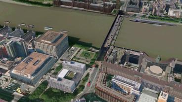 Aerial view of London eye Stock Video Footage