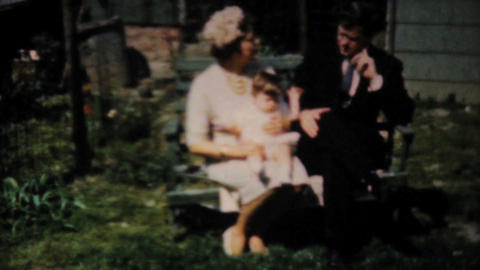 Handsome Dressed Up Couple With Baby 1961 Vintage Stock Video Footage