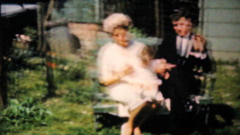 Handsome Dressed Up Couple With Baby 1961 Vintage Footage