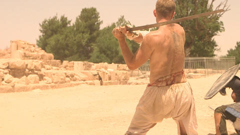The Gladiator Fight weapon violence battle combat Stock Video Footage