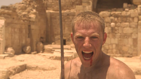 The Gladiator Fight Weapon Violence Battle Combat stock footage