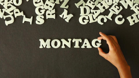 Monday (In German) Stock Video Footage