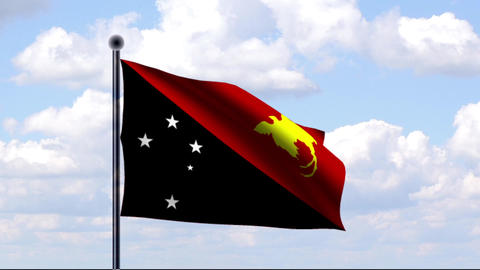 Animated Flag of Papua New Guinea Animation