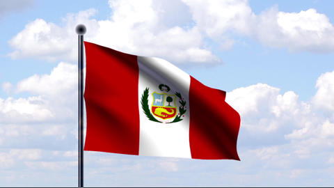 Animated Flag of Peru / Animierte Flagge von Peru Animation