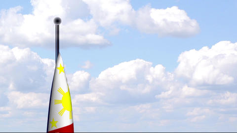 Animated Flag of Philippines / Philippinen Stock Video Footage