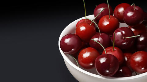 cherry close up black background Stock Video Footage