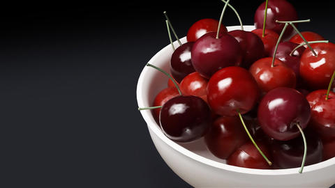 cherry close up black background Animation