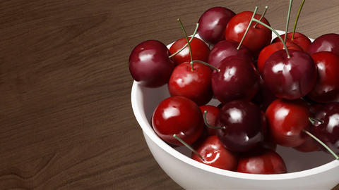 cherry close up wood background Animation