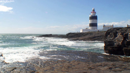 Hook Lighthouse Stock Video Footage