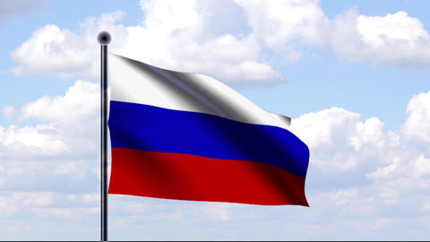 Animated Flag of Russia / Russland Stock Video Footage
