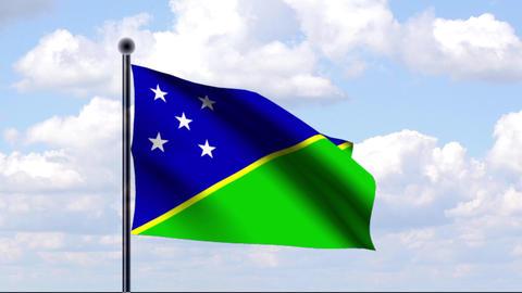 Animated Flag of Solomon Islands / Salomonen Stock Video Footage