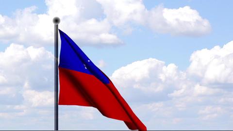 Animated Flag of Samoa Stock Video Footage