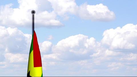 Animated Flag of Sao Tome and Principe Stock Video Footage