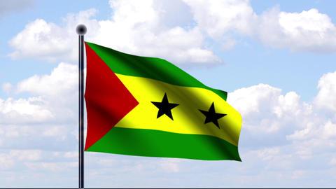 Animated Flag of Sao Tome and Principe Animation