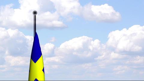 Animated Flag of Sweden / Schweden Stock Video Footage