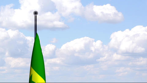 Animated Flag of Senegal Stock Video Footage