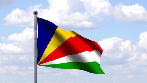 Animated Flag of Seychelles / Seychellen Animation
