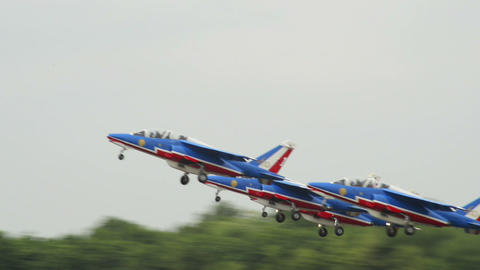 Patrouille France take off 10953 Stock Video Footage