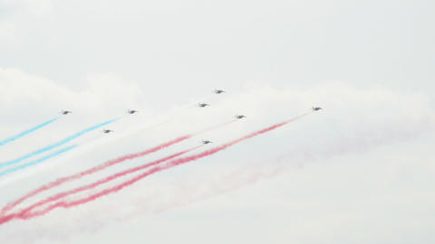 Patrouille France formation roll 10961 Stock Video Footage
