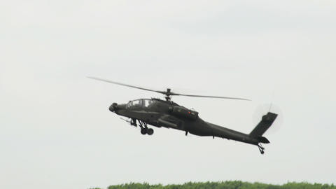 Apache AH 64 Helicopter crossing 10965 Live Action