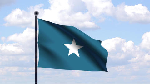 Animated Flag of Somalia Stock Video Footage
