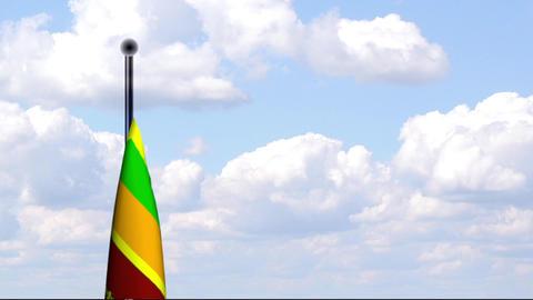 Animated Flag of Sri Lanka Stock Video Footage