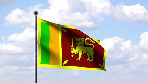 Animated Flag of Sri Lanka Animation