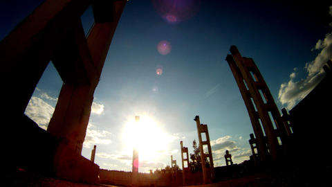 Ruins of building Time Lapse Stock Video Footage