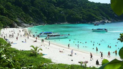 Similan Island beach Stock Video Footage