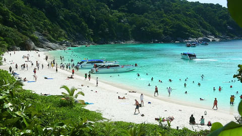 Similan Island beach Stock Video Footage