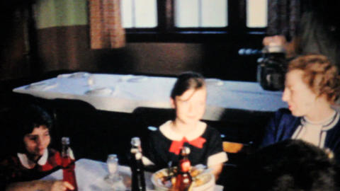 Kids And Families At Special Dinner Party 1963 Vin Stock Video Footage