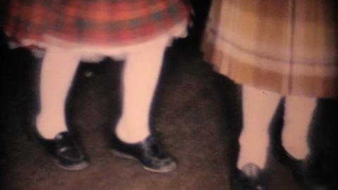 Two Cute Girls Dancing On Dance Floor 1963 Vintage Footage