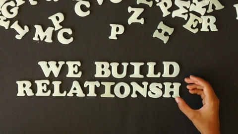 We build Relationships Footage