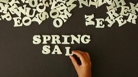 Spring Sale Stock Video Footage