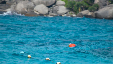 Floating Buoy Stock Video Footage